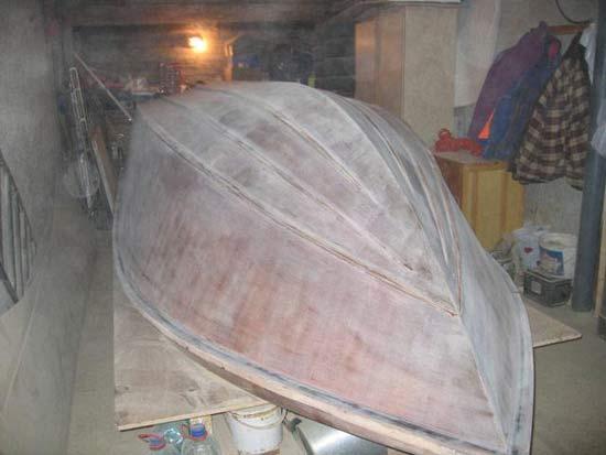 ремонт днища деревянных лодок