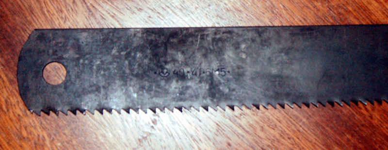 Нож из рапидной пилы чертежи