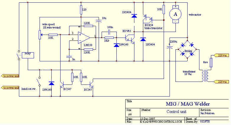 электрическая схема сварочный