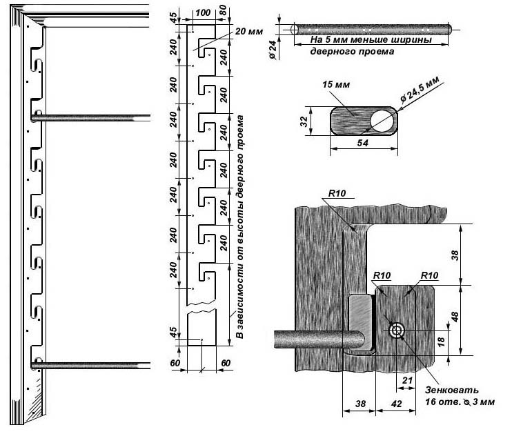 Шведская стенка своими руками чертежи 677