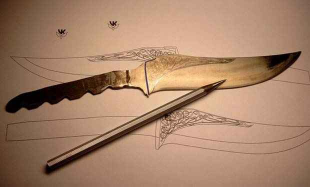 рисунки на ножах: