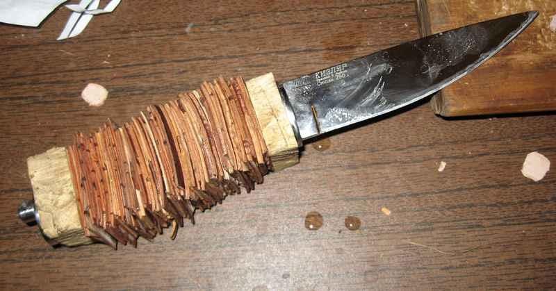 Рукоятка для ножа своими руками из бересты - Рукоятка ножа - Как сделать нож - Каталог статей - Как сделать своими руками музыка