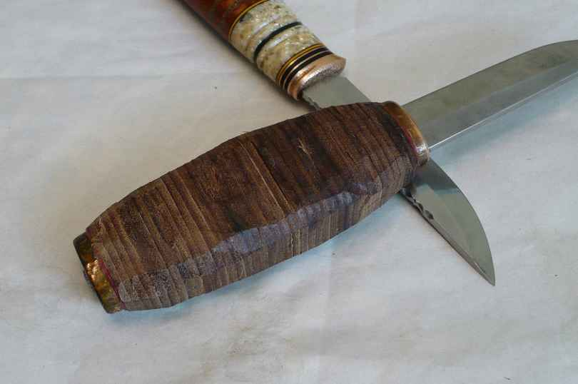 Рукоятка для ножа из кожи своими руками 69