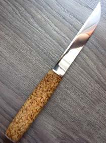 Рукоять для ножа из бересты своими руками