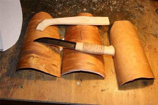 Ножны из бересты как сделать