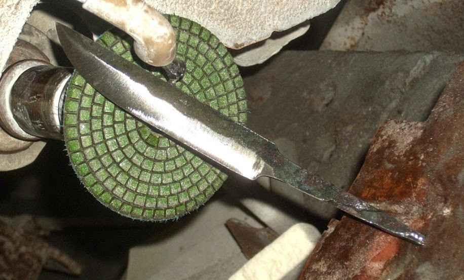Якутский нож своими руками из подшипника